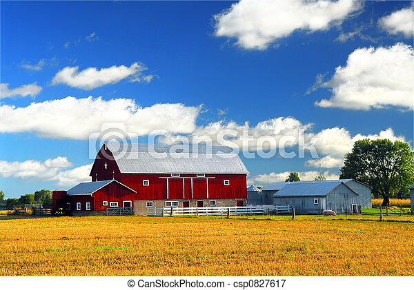 Red barn - csp0827617