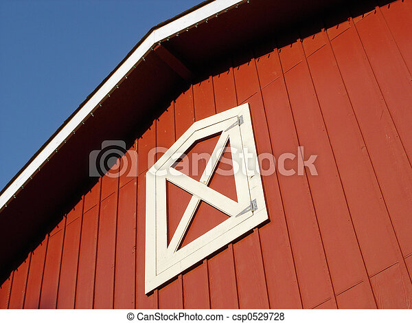 Red Barn Roof - csp0529728