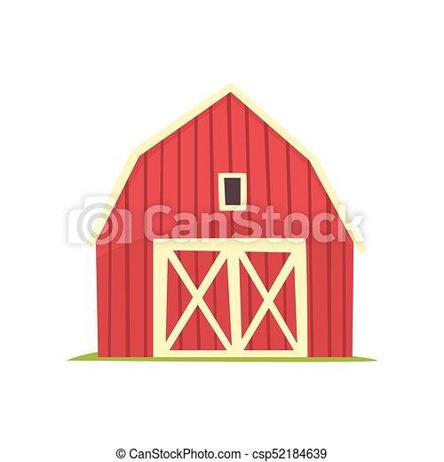 red barn doors clip art. Red Barn, Wooden Agricultural Building With Closed Doors Cartoon Vector Illustration Barn Clip Art
