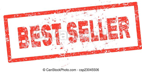 red Best seller rubber stamp vector illustration - csp23045506