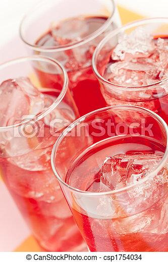 Red beverage - csp1754034
