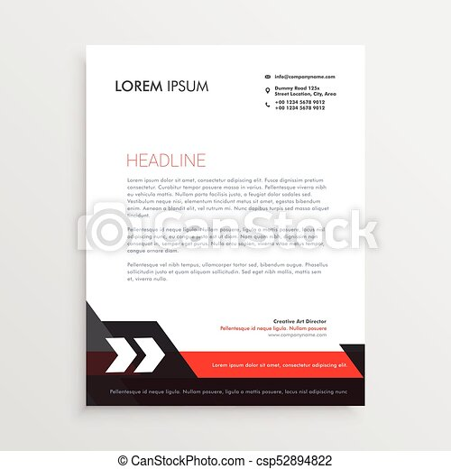 Red black letterhead template design red black letterhead template design csp52894822 spiritdancerdesigns Gallery