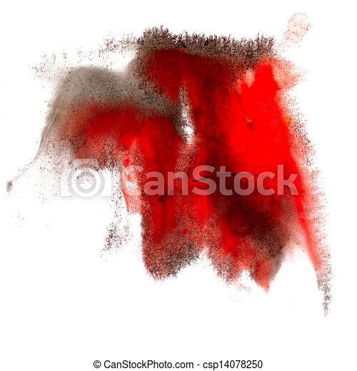 Как белым на красном сделать чёрное пятно 621