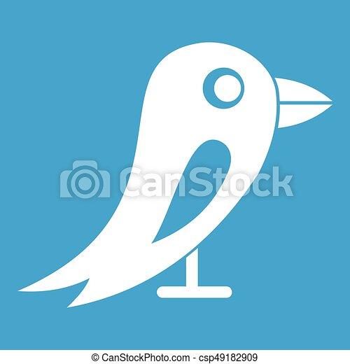 Pájaro blanco de la red social - csp49182909