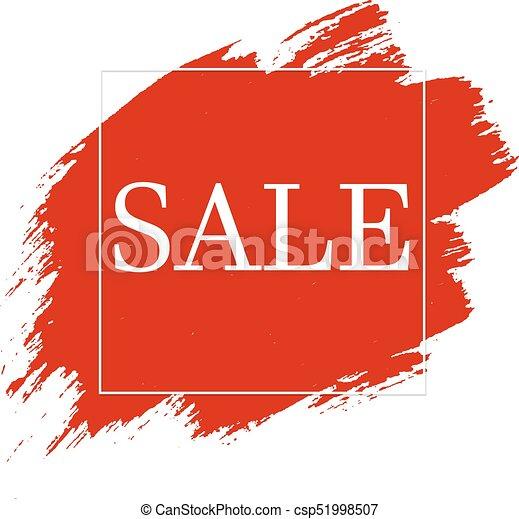 Red Blobs Sale Banner - csp51998507