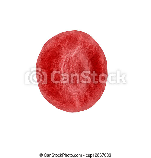 Red Blood Cell isolated on white - csp12867033