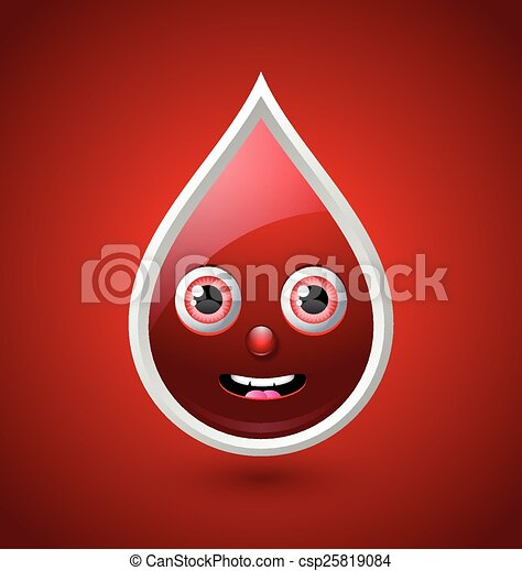 Red blood character icon - csp25819084