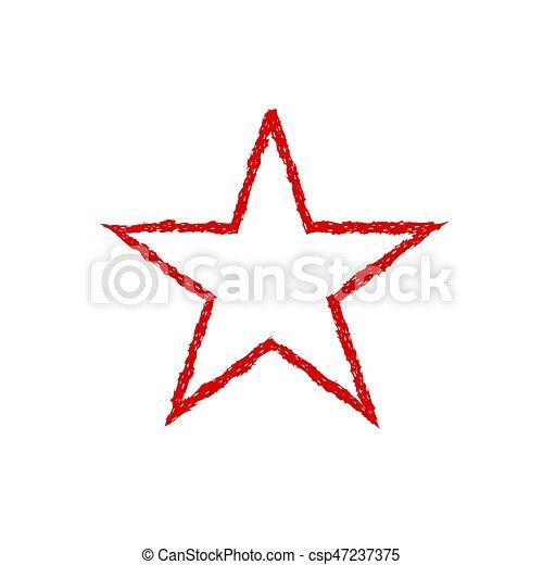 Red blood grunge star - csp47237375