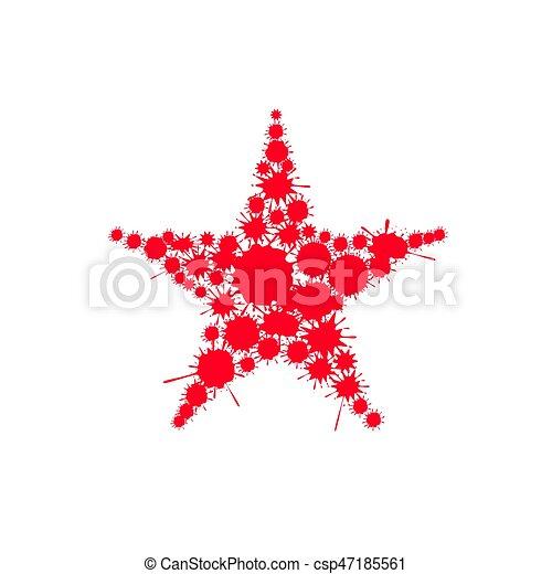 Red blood splash star - csp47185561