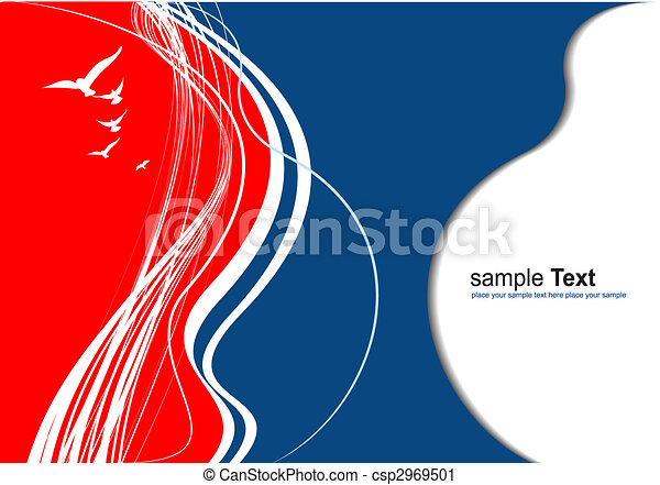 Red Blue Abstract Background Colored Vector Illustration