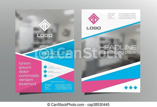 Red Blue Brochure Flyer Template Design Vector Leaflet Cover