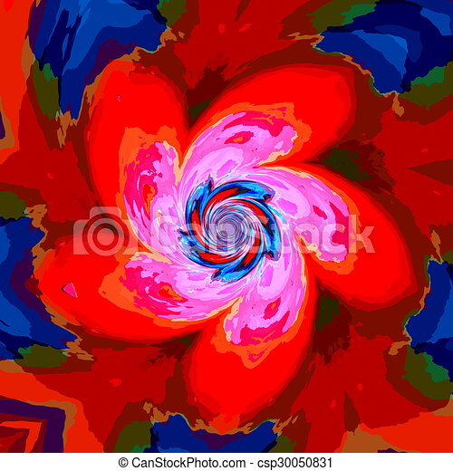 Red Blue Psychedelic Background Red Blue Psychedelic