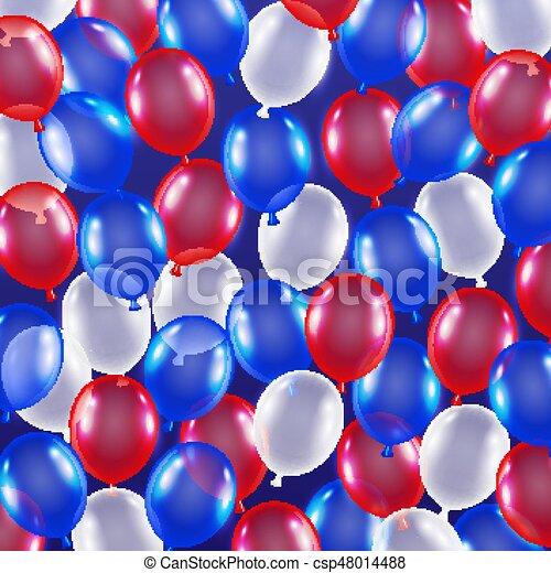 5e32ee882c4 Red blue white balloon background usa flag theme.