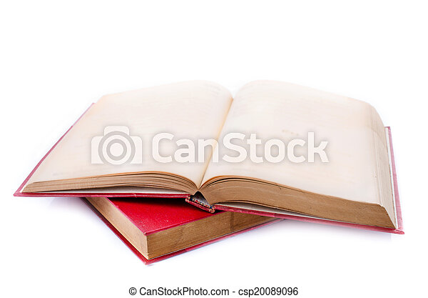 Red book on white background - csp20089096