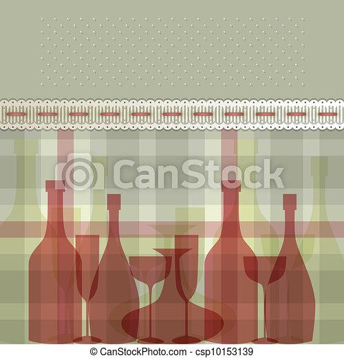 Red bottles - csp10153139