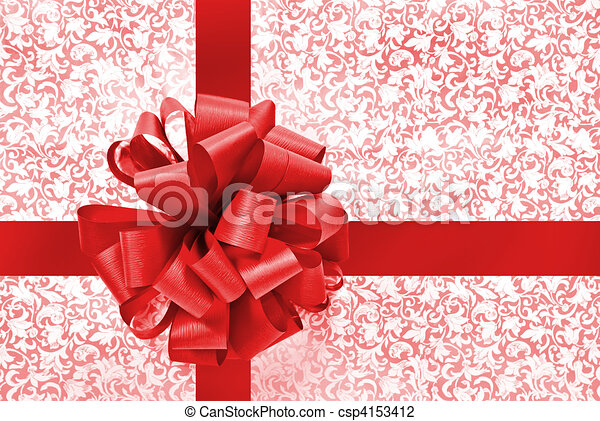 Red bow and ribbon - csp4153412