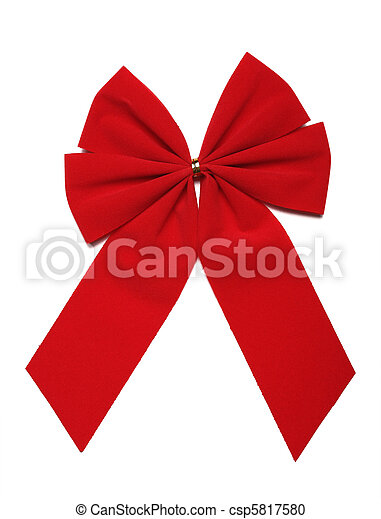 Red Bow (CLIPPING PATH INCLUDED) - csp5817580