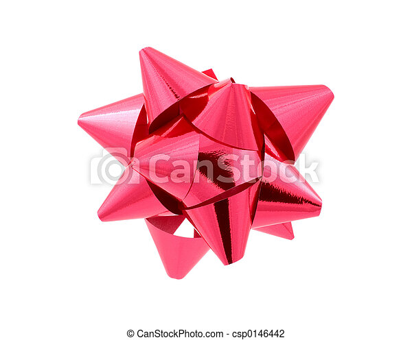 Red Bow - Clipping Path - csp0146442
