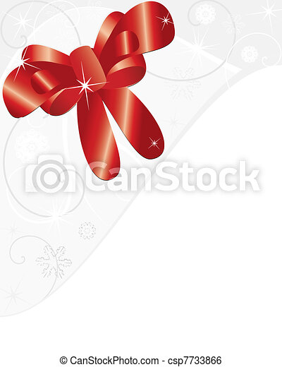 Red Bow Gift - csp7733866