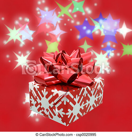 Red Bow Gift - csp0020995