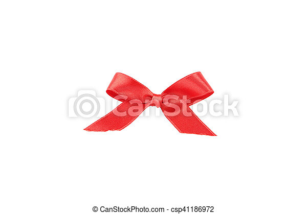 Red bow on white background - csp41186972