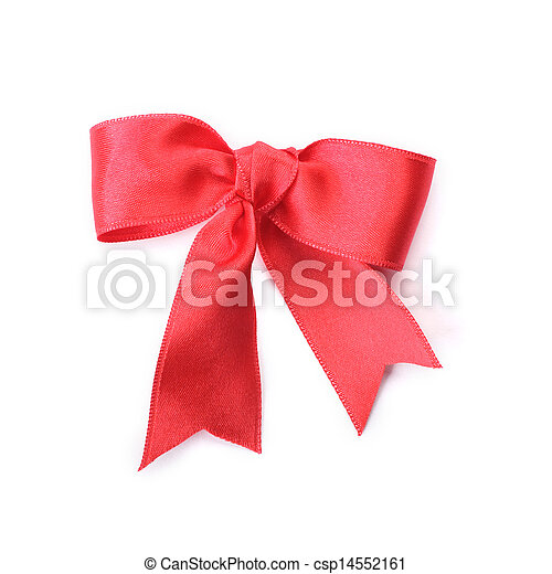 Red bow on white background - csp14552161