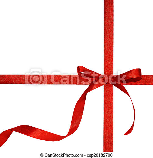 Red bow on white background - csp20182700