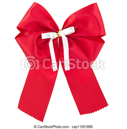 Red bow. - csp11251680
