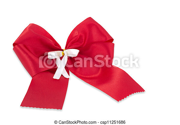 Red bow. - csp11251686