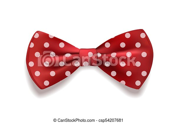 Red Polka Dot Bow Clipart