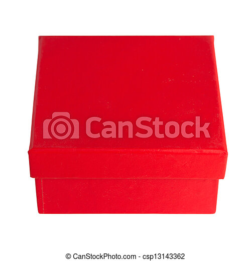 red box on white background - csp13143362