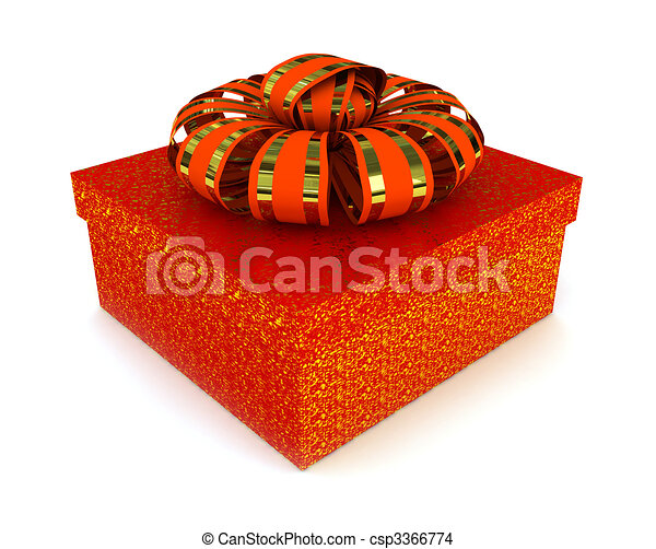 Red box over white background - csp3366774
