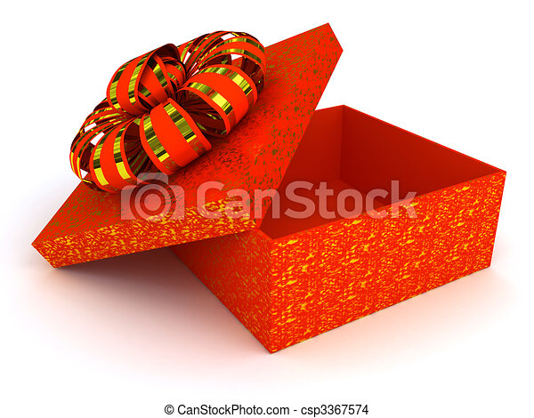 Red box over white background - csp3367574