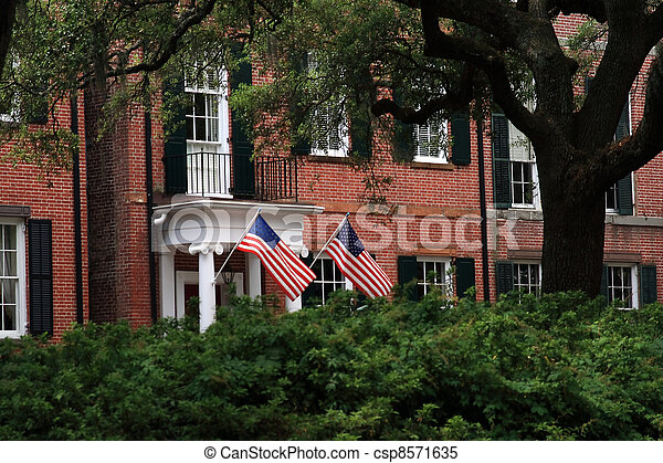 Red brick building - csp8571635
