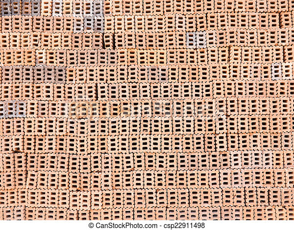 red brick for construction texture background - csp22911498