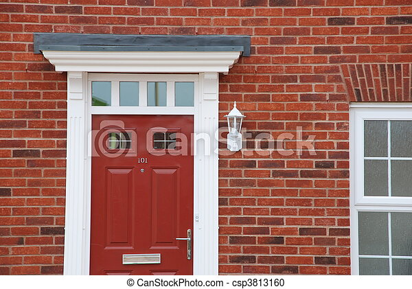 Red Brick House Detail Stock Photo