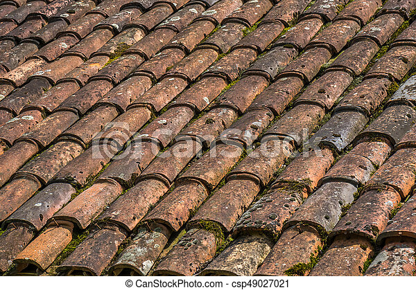Brick Roof Texture red brick tile roof texture useful as a background.