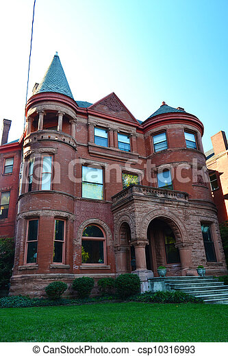 Red Brick Victorian Home - csp10316993
