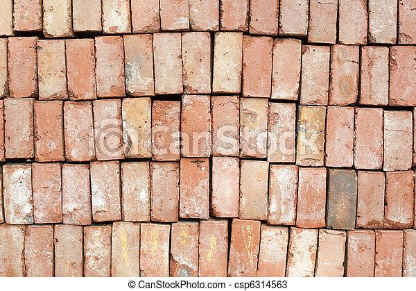 Red brick wall (2) - csp6314563