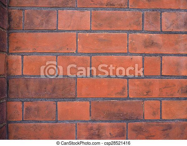 Red brick wall background - csp28521416