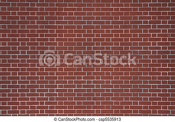 red brick wall background - csp5535913