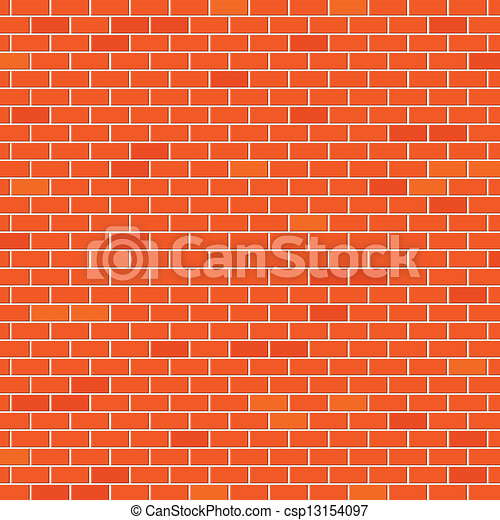Red brick wall - csp13154097