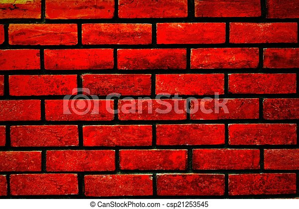 Red Brick Wall Canstock