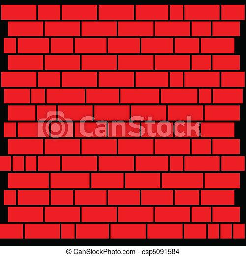 Red Brick Wall Eps Vector