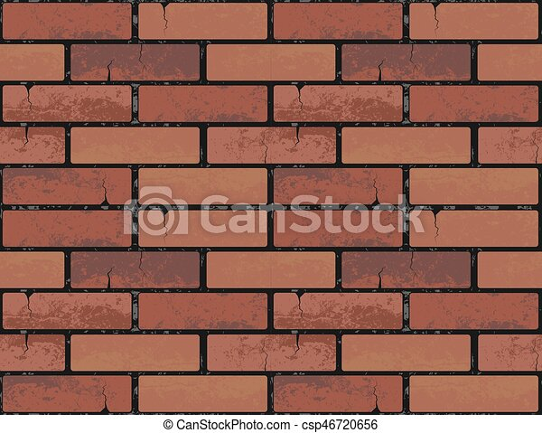 Red Brick Wall Seamless Texture Background Vector Illustration Pattern For Continuous Replicate