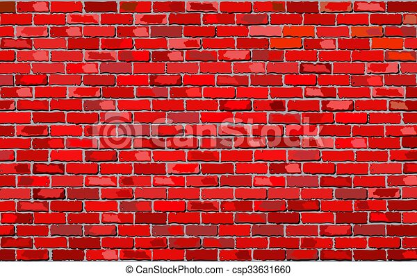 Red Brick Wall Illustration Retro Red Brick Wall Vector Seamless Realistic Red Brick Wall Brick Wall Background Canstock