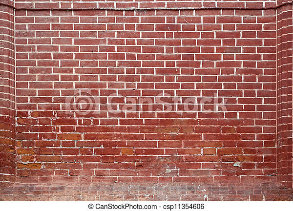 red brick wall texture background - csp11354606