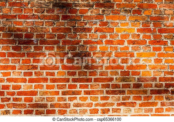 Red Brick Wall Texture Grunge Background With Vignetted Corners May Use To Interior Design Old Orange Brick