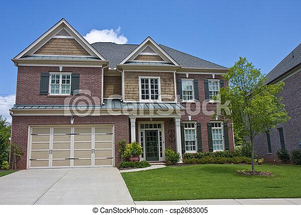Red Brick With Wood Shingle Siding