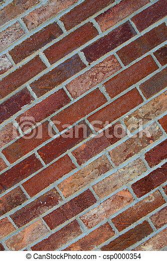 Red Bricks - Diagona - csp0000354